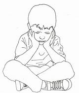 Drawing Sitting Boy Child Yahoo Baby Bench Alone Drawings Complex Children Getdrawings Clipart Seated Coloring Sketches Keg Pages Disorder Traumatic sketch template