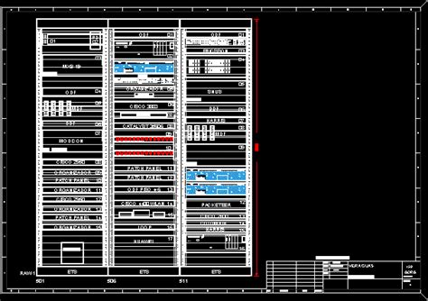 rack  tele communications dwg block  autocad