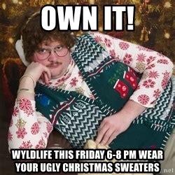 Christmas Sweater Meme - ugly christmas sweater guy meme generator