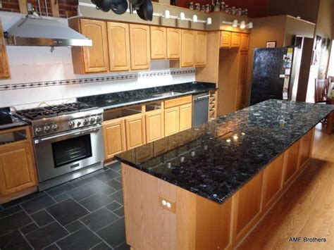 granite volga blue kitchen chicago by amf brothers