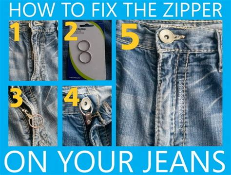 how to fix a zipper how to fix the zipper on your jeans removeandreplace com