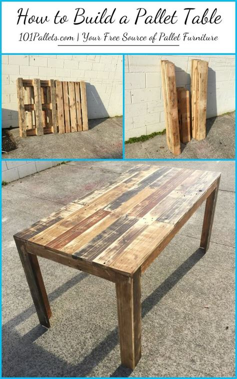 Furniture Made With Pallets by Diy How To Build A Pallet Table 101 Pallets