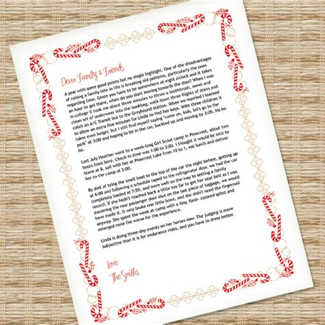 christmas letter template  ms word  print