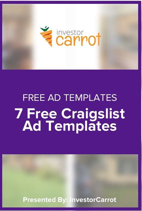 Craigslist Real Estate Template by Free Craigslist Ad Templates For Real Estate Investors