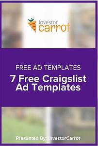 free craigslist ad templates for real estate investors With craigslist real estate ad templates