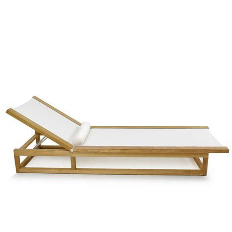 teak frame chaise sling pool lounger westminster