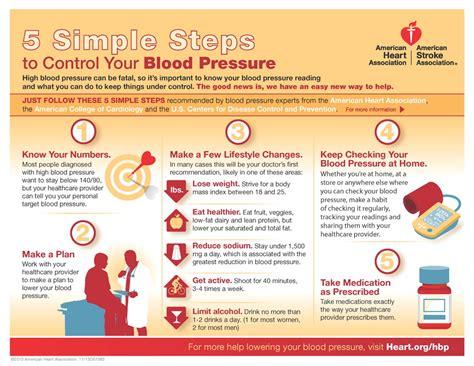 health wellness simple steps  control  blood
