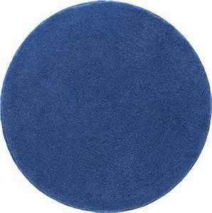 Bathroom rugs comfort round blue o 90 cm grund for Bathroom carpet png