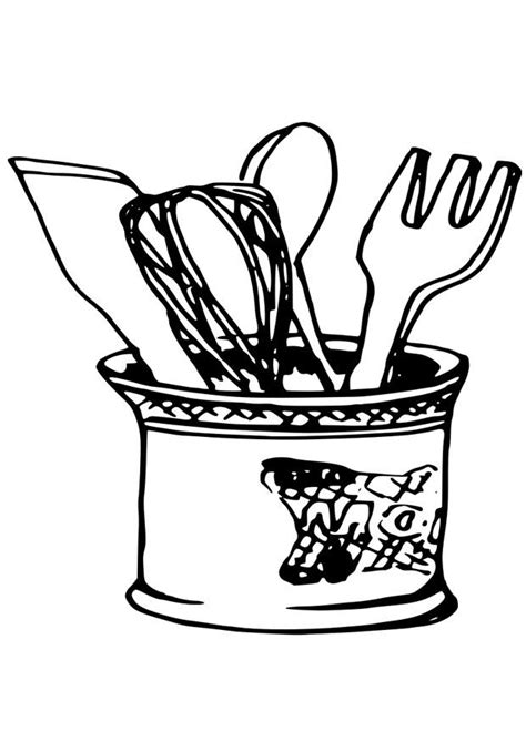 coloring page kitchen utensils img  coloring home