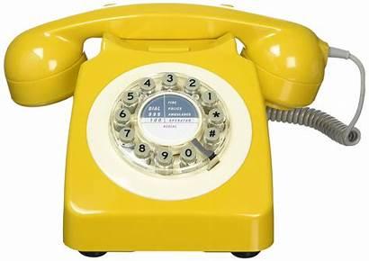 Phone Retro Landline Mustard Yellow Fashioned 60s