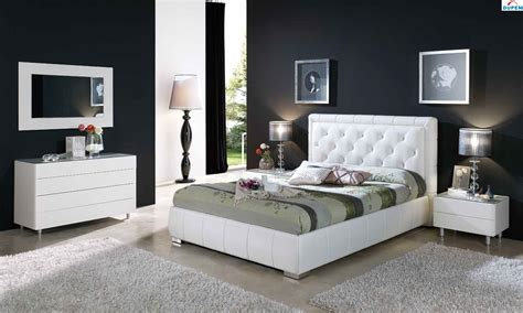 Modern Bedroom Furniture Black And White  Greenvirals Style