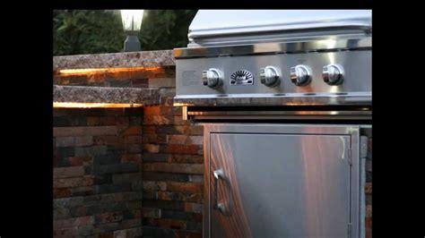 BBQ Island Granite Countertop & Tile Sides   YouTube