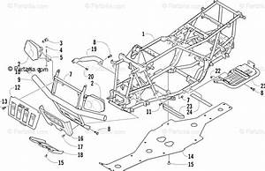 Arctic Cat Atv 2004 Oem Parts Diagram For Frame And