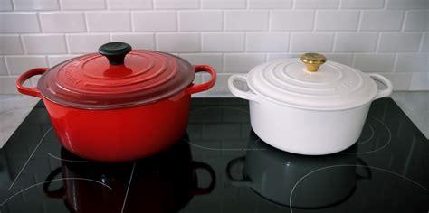 le creuset dutch oven size comparison    red white
