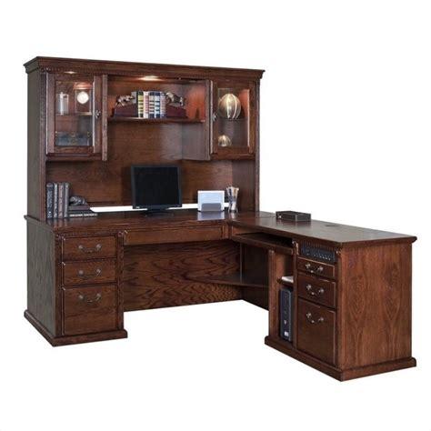 executive desk with hutch kathy ireland home by martin huntington oxford l shape rhf