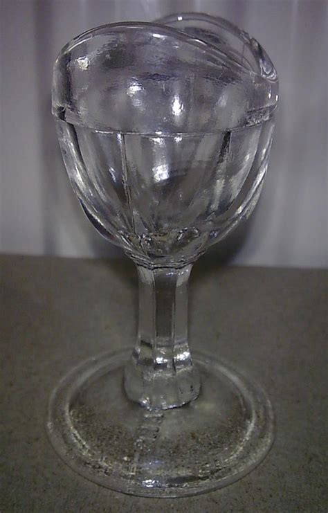 Vintage Evans Son & Co. The Savars Clear Glass Stem Eye