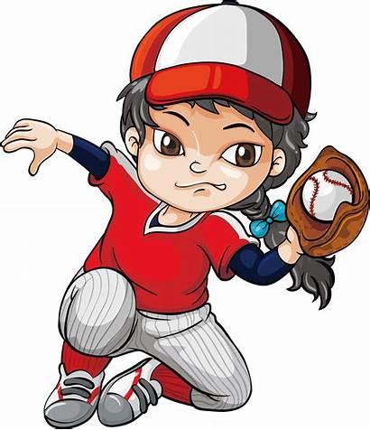 Baseball Clipart Cartoon Clip Pitcher Players Mascot