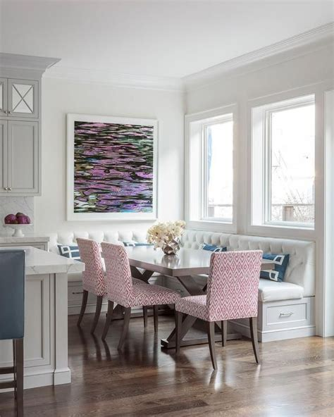 L Shaped Banquette - a corner space with an l shape dining banquette offers a