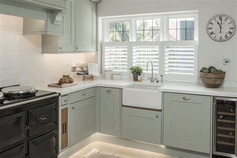 green kitchen sinks pale green kitchen farmhouse with green and white 1434