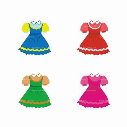 Doll Clipart Clip Clothes Cartoon Dresses Cliparts