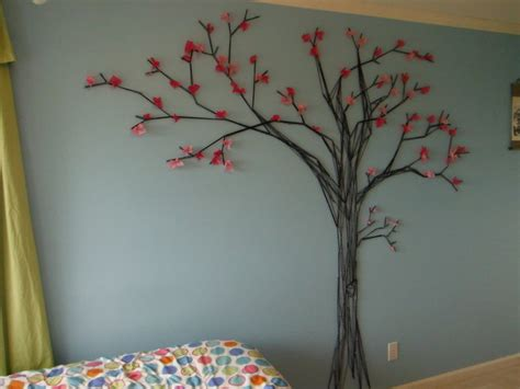 cherry blosson tree mural modern bedroom vancouver