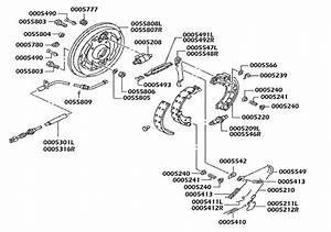 Rear Brake Diagram - Brakes  Fuso Fe649
