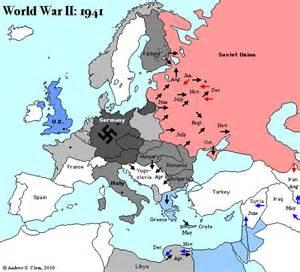 World War 2 Europe Map 1941