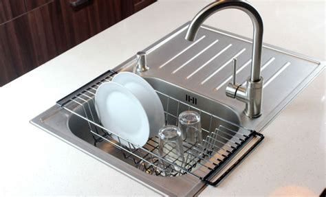 sink baskets and drainers dish drying rack stainless steel kitchen dish drainer