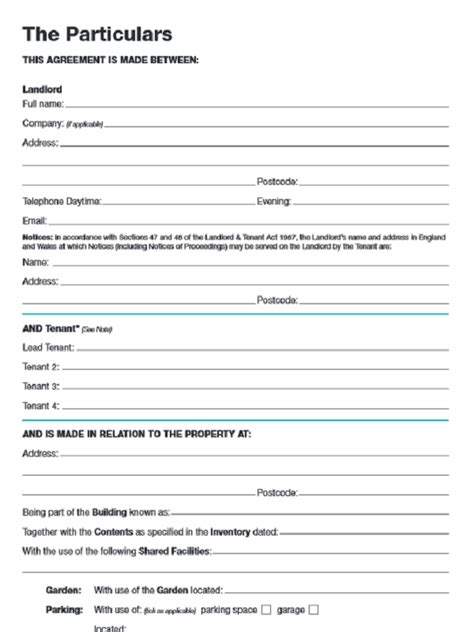 rental agreement form business template