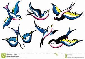 Dessin D Hirondelle Pour Tatouage : tatouage de vintage d 39 hirondelle illustration de vecteur ~ Melissatoandfro.com Idées de Décoration