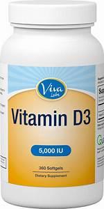 Amazon Com  Viva Labs  1 High Potency Vitamin D3 5000 Iu In Non
