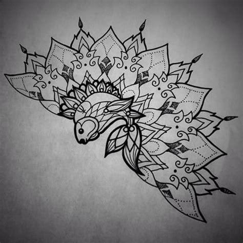 ornate fined fish   mandala tattoo design