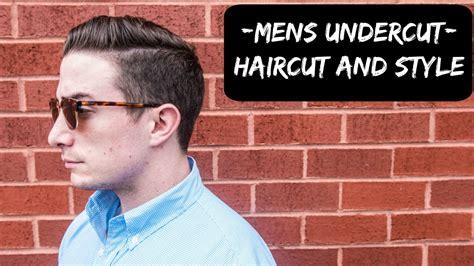 mens undercut hairstyle full haircut filmed youtube