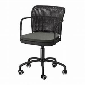 Chaise Noire Ikea : gregor chaise pivotante noir svanby gris ikea ~ Teatrodelosmanantiales.com Idées de Décoration