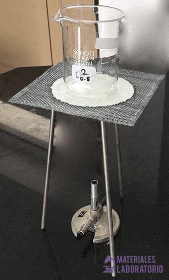 rejilla de asbesto  materiales de laboratorio