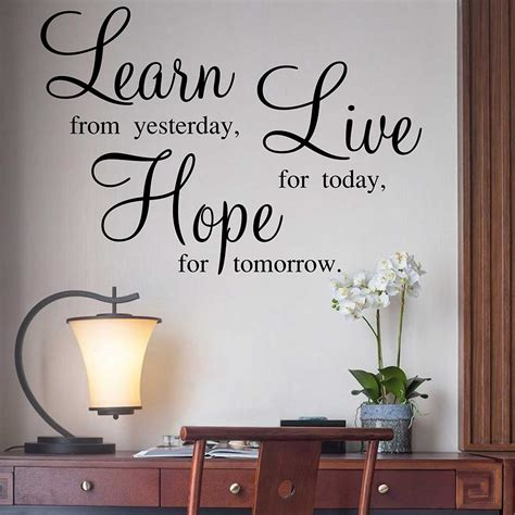 learn  hope quotes wall stickers family quotes sticker