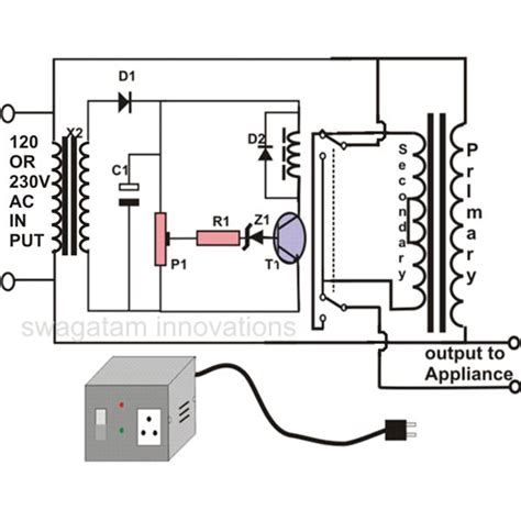 how to make an automatic voltage stabilizer circuit construction explained