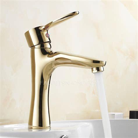 Cheap Antique Gold Copper Bathroom Sink Faucet