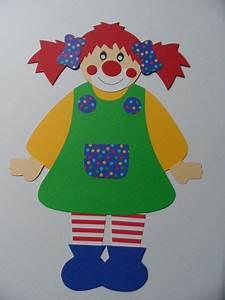 Basteln Mit Mädchen : s es clown m dchen aus fotokarton und nat rlich ~ Lizthompson.info Haus und Dekorationen