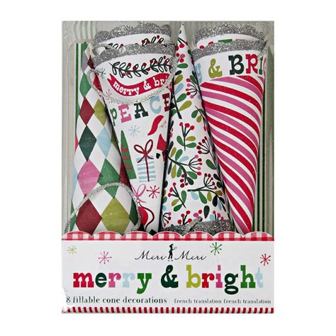 merry bright cone decoration party time excellent