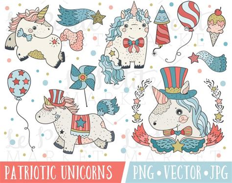 4th Of July Unicorn Clipart Images Cute 4th Of July