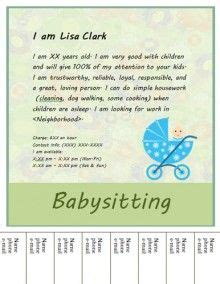 How To Make Babysitting Sound On A Resume by 1000 Images About Babysitting Flyers On Babysitting Flyers Flyers And