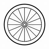 Coloring Fietswiel Ruota Fahrradfelge Kleurend Boek Bicicletta Fahrrad Malbuch sketch template