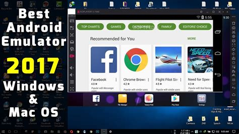 best android free top 4 best android emulators 2017 free windows mac