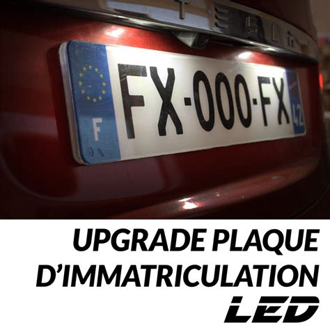 pack dampoules led plaque dimmatriculation pour mercedes