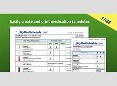 MyMedSchedule, free medication reminder and schedule service