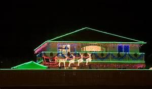 Christmas, Rope, Lights, On, House