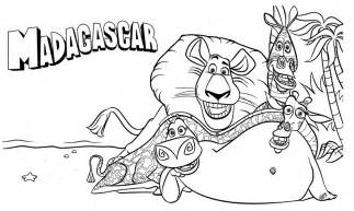 HD wallpapers madigascar coloring pages