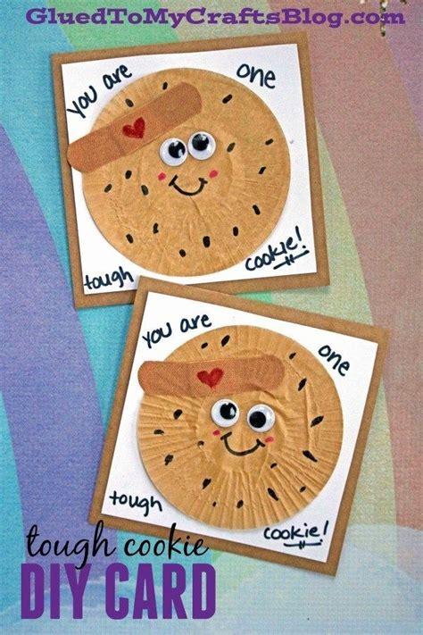 cupcake liner tough cookie card idea  kids