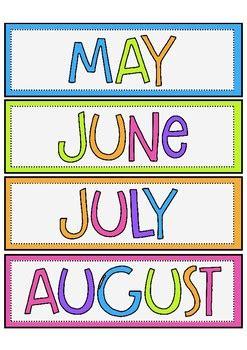Months of the Year by Mrs Edgar | Teachers Pay Teachers